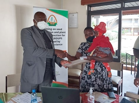10 Farmer Groups Trained on Seed Production and Certification